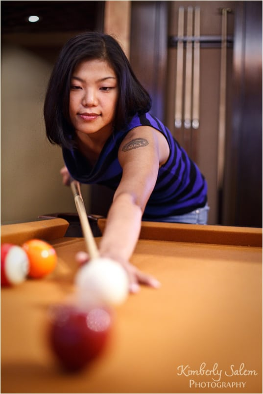 Diana - playing pool