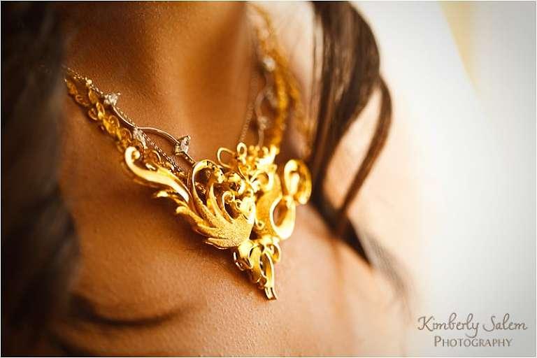 bride's necklace closeup