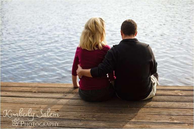 Jenna and Bob on dock