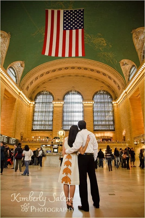 Sarah and David in Grand Central - wide angle