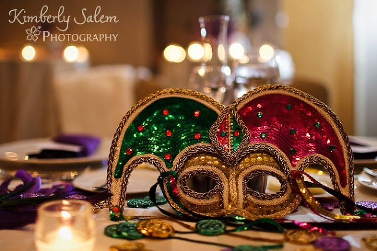 Mardi Gras mask for wedding