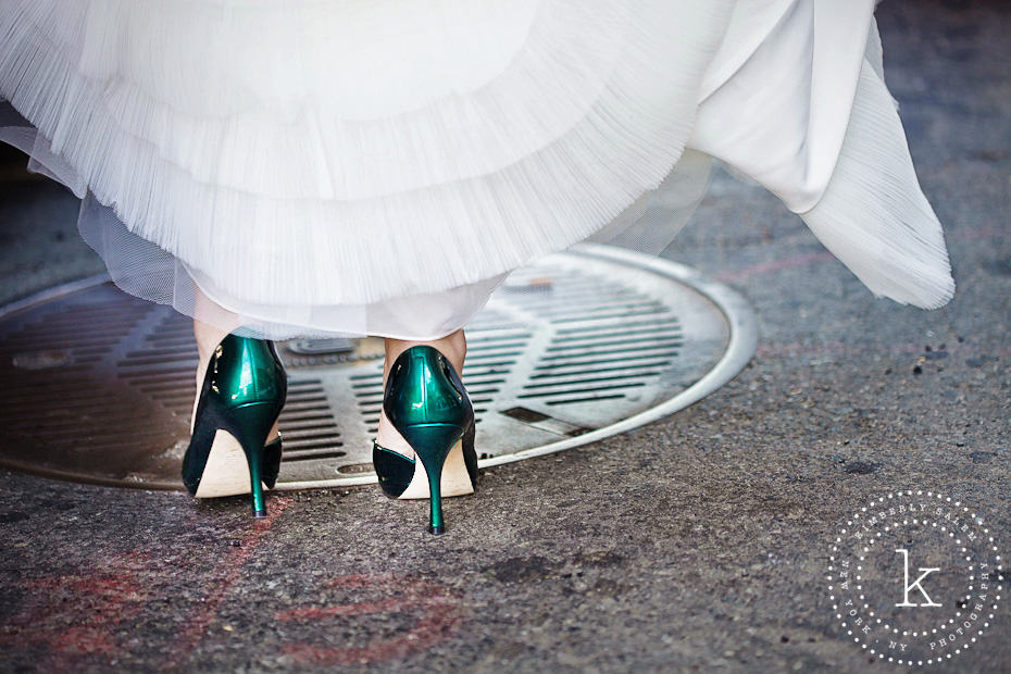 green wedding heels in NYC