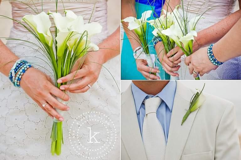 calla lily details - beach wedding