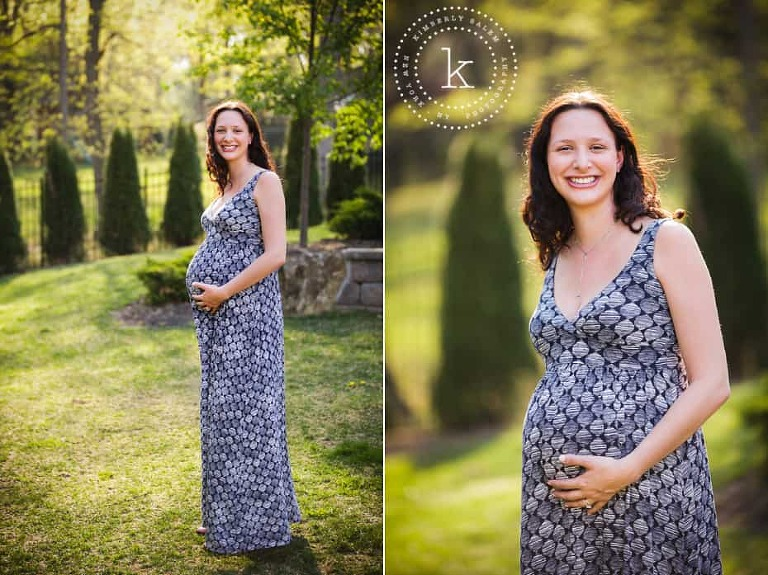 Maternity photos - trees in background