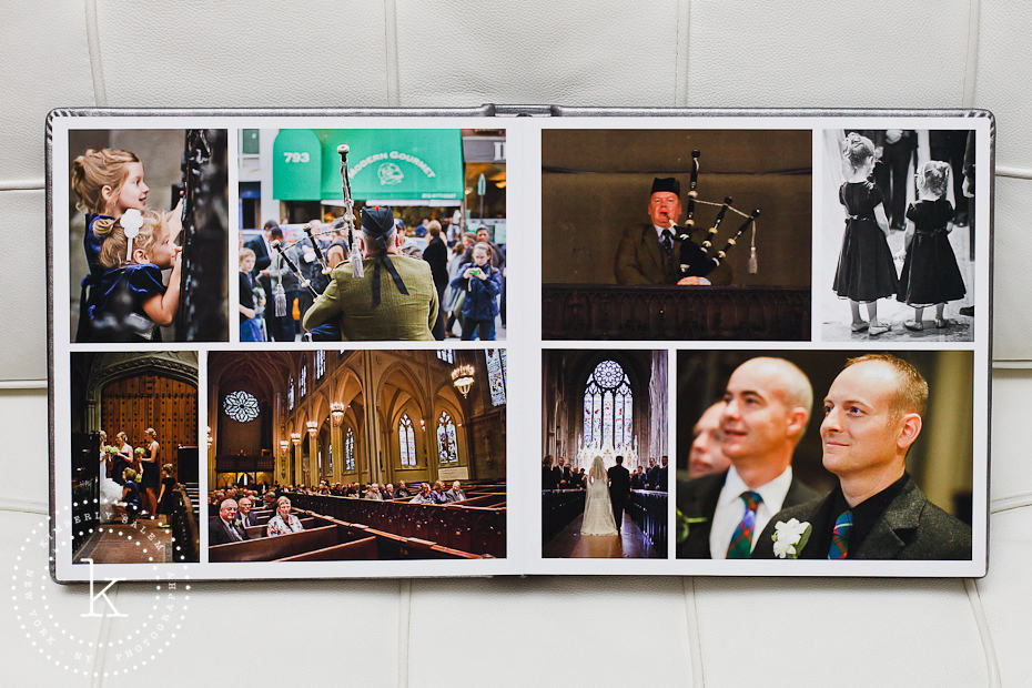 wedding album spread - grace church ceremony - 8