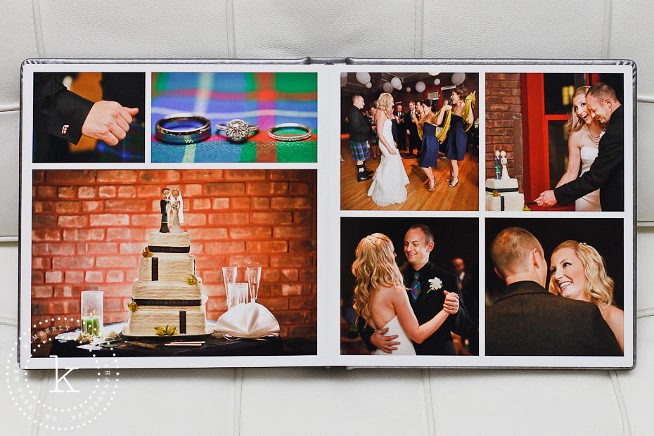 wedding album spread - dances and cake - 12