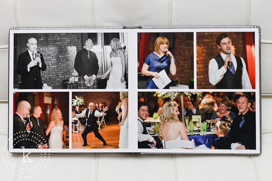 wedding album spread - speeches - 13