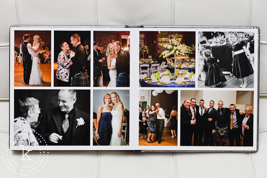 wedding album spread - dances and details - 14