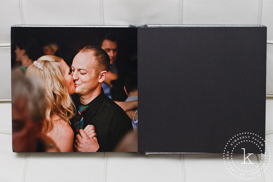 wedding album spread - kiss - last page