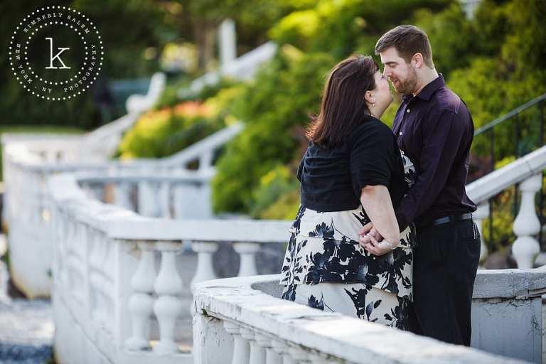 engaged couple - argyle park long island