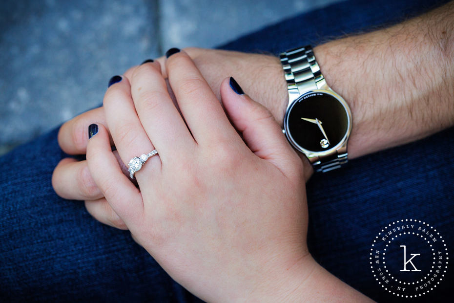 engagement ring and watch