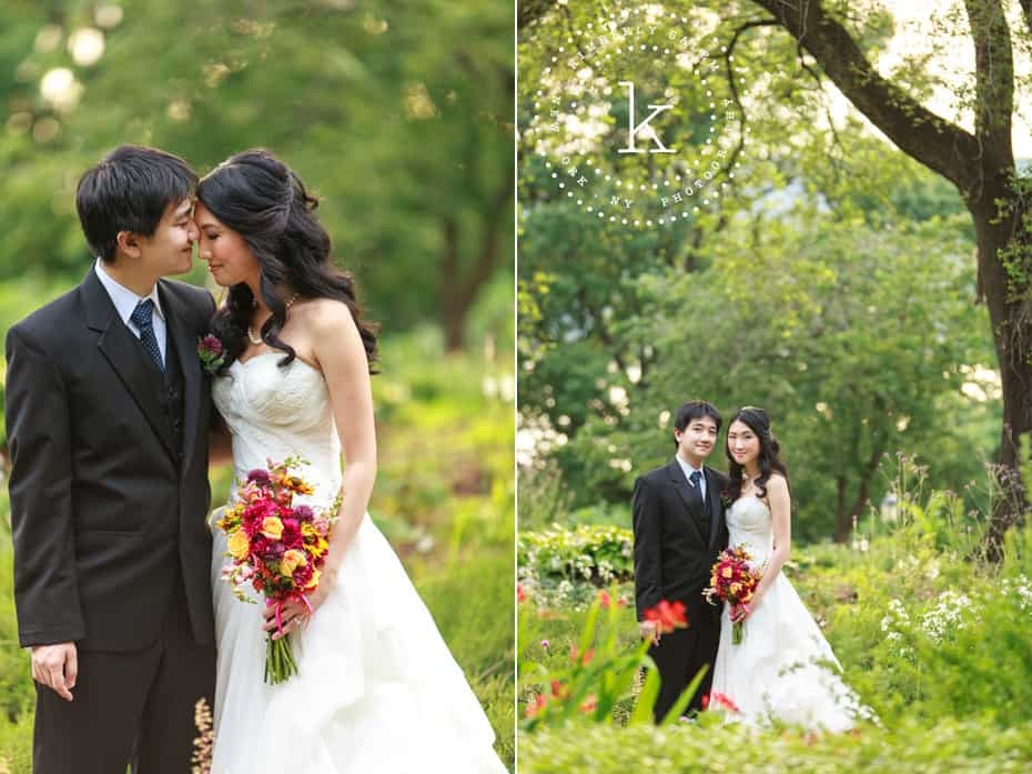 dyptych - wedding portraits - Fort Tryon Park NYC