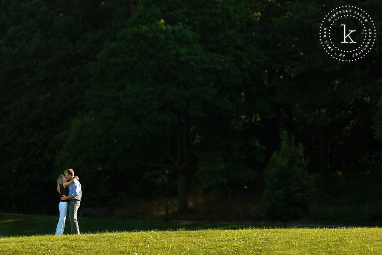 engaged couple - Prospect Park