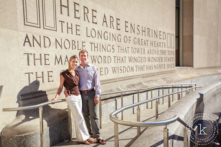 engaged couple at the Brooklyn Library - inscription