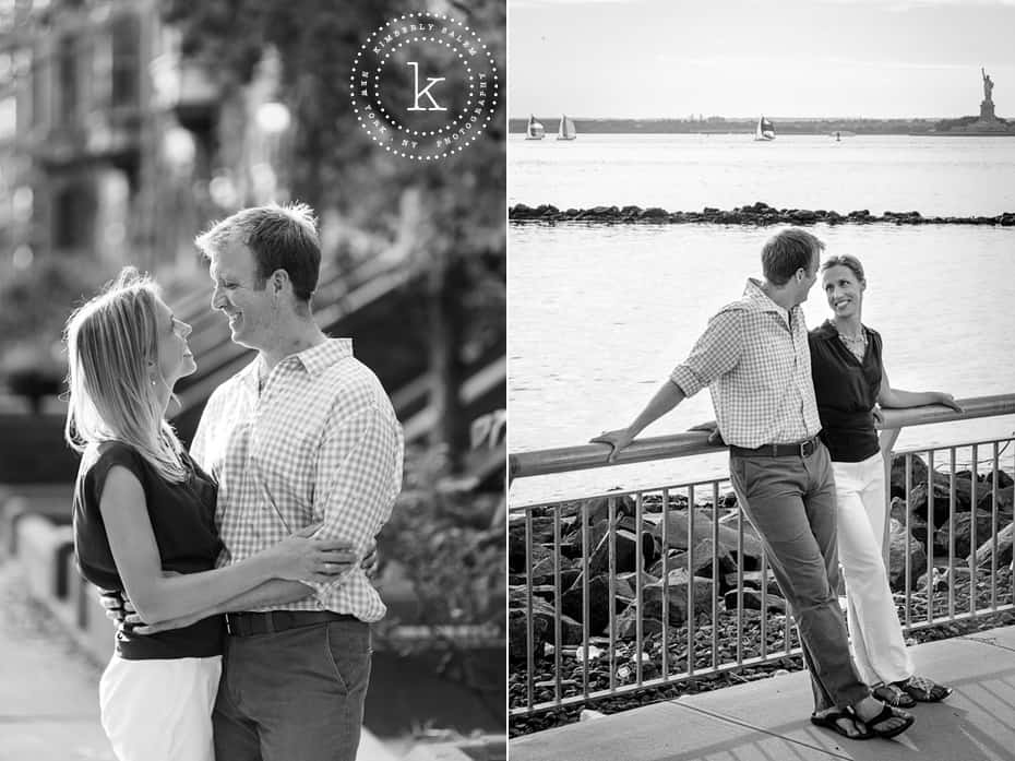engaged couple in Brooklyn, NY - Red Hook