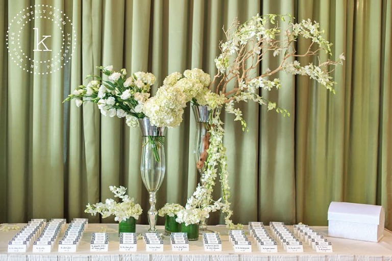 Battery Gardens - placecard table