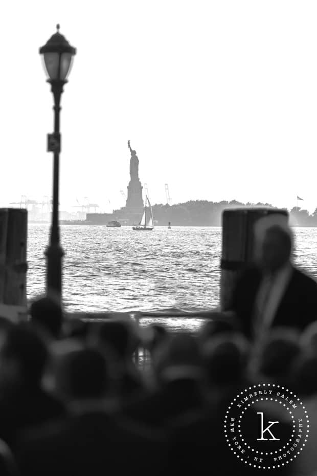 Statue of Liberty view from Battery Gardens wedding