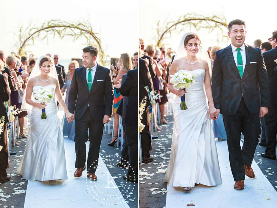 Wedding ceremony - Battery Gardens - recessional