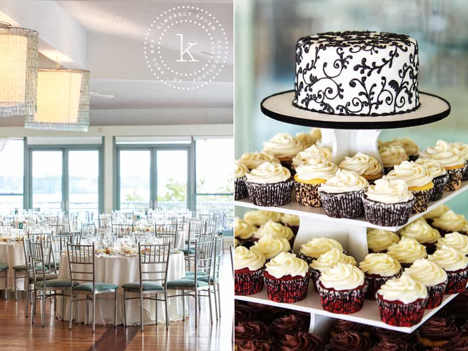 Battery Gardens - reception setup and cupcake tower