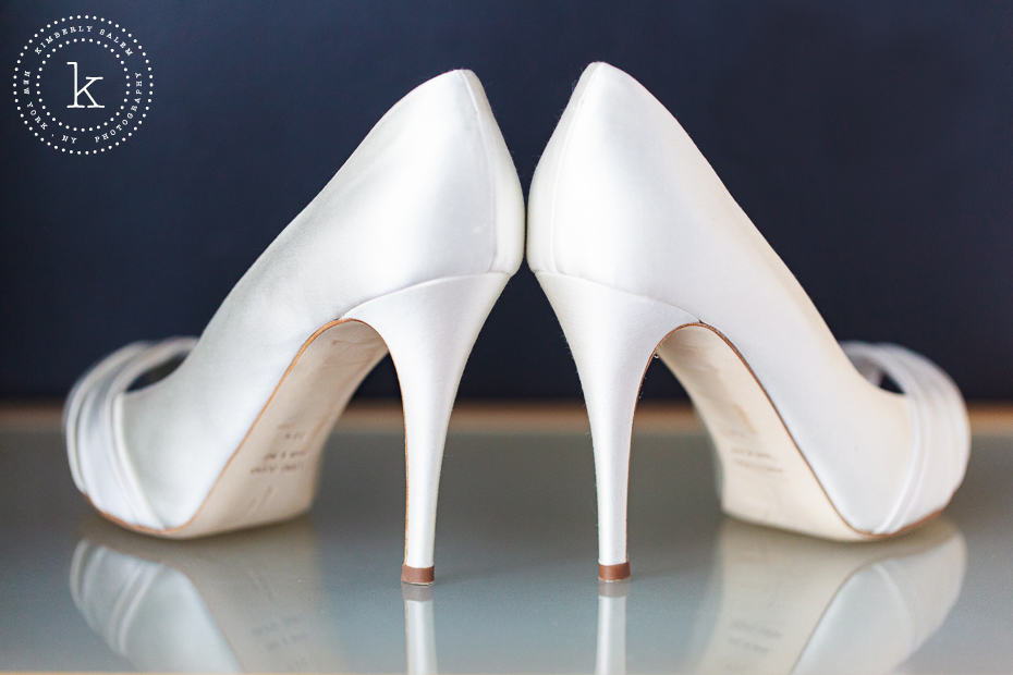 white high heels for bride
