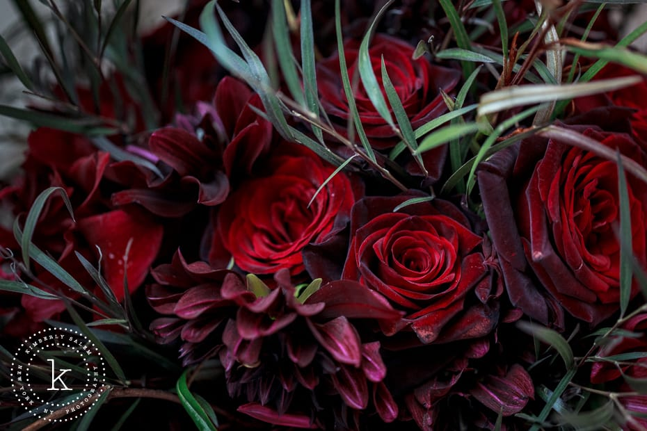 dark red textured bouquet