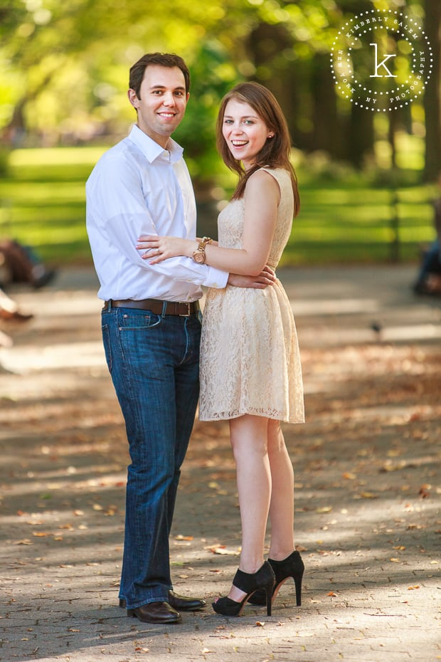 central park engagement - The Mall