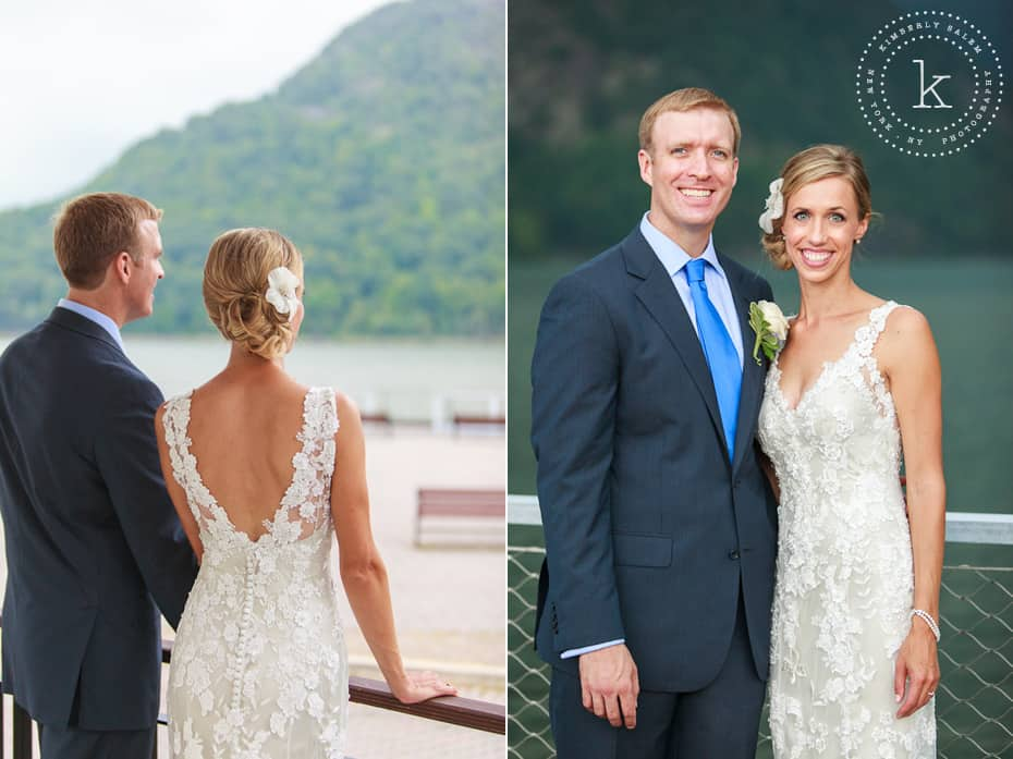 Bride and groom - Hudson River portraits
