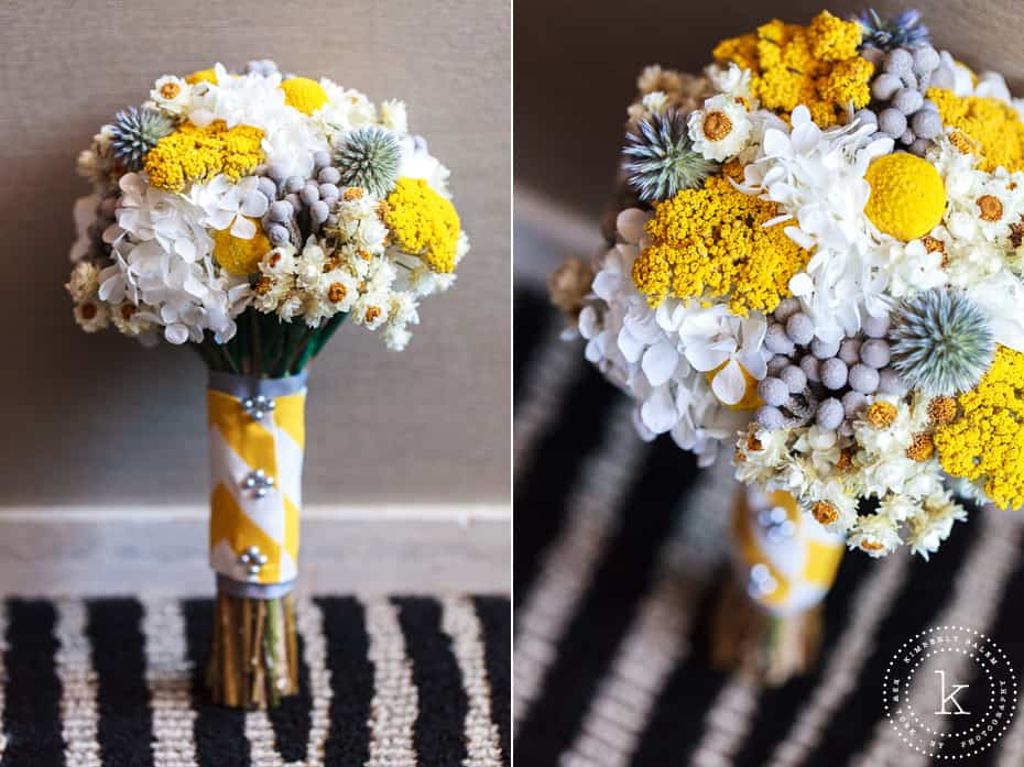 yellow and grey wedding bouquet pam amp jen wedding central park nyc 187 vibrant 1507
