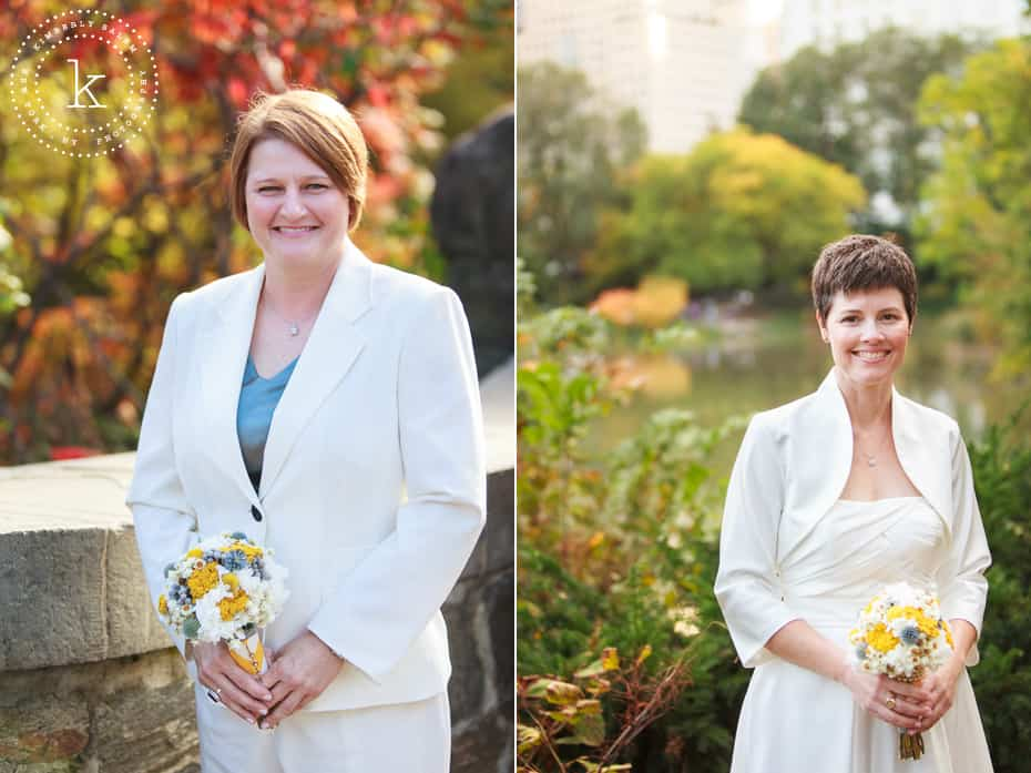 two bridal portraits