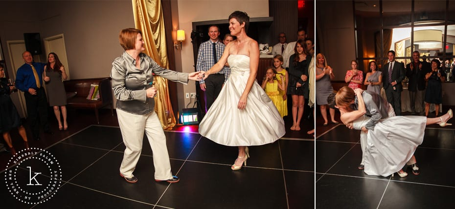 two brides - first dance diptych