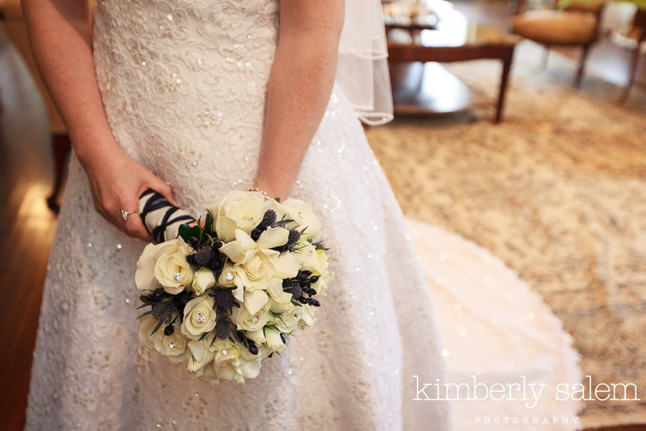 bridal bouquet detail