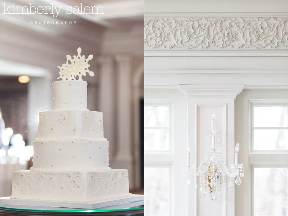 wedding cake and decor detail