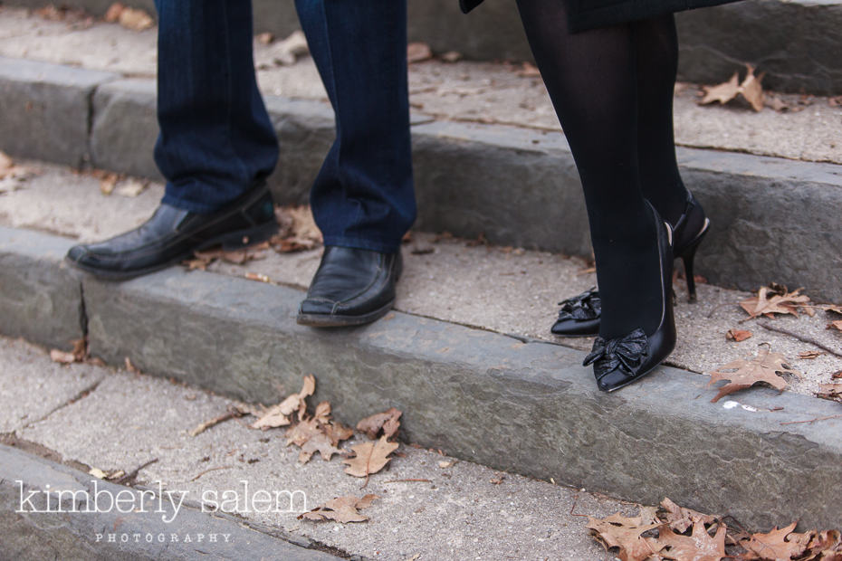 shoe detail of engagement shoot in Brooklyn