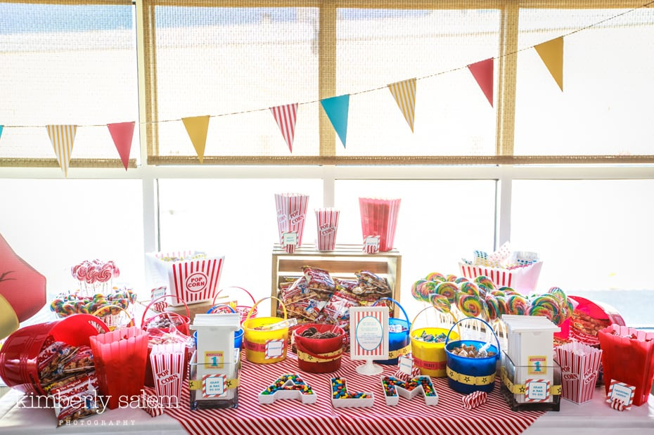 Long Island first birthday - candy table
