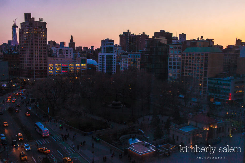 Union Square at dusk