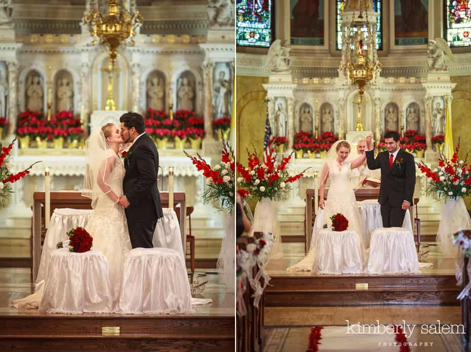 wedding in church - you may kiss the bride