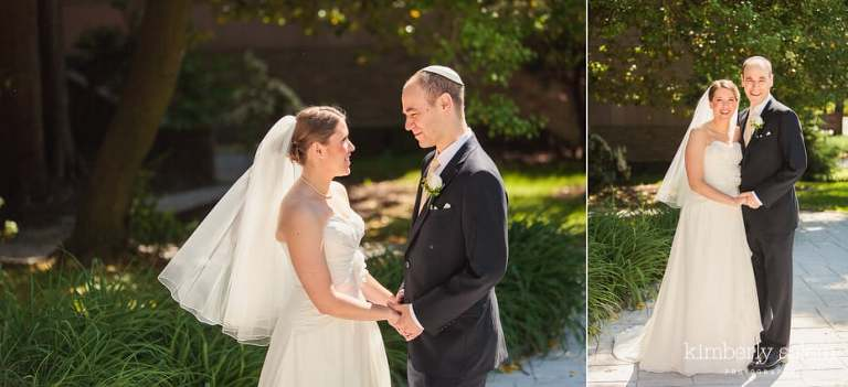 bride and groom portraits - color