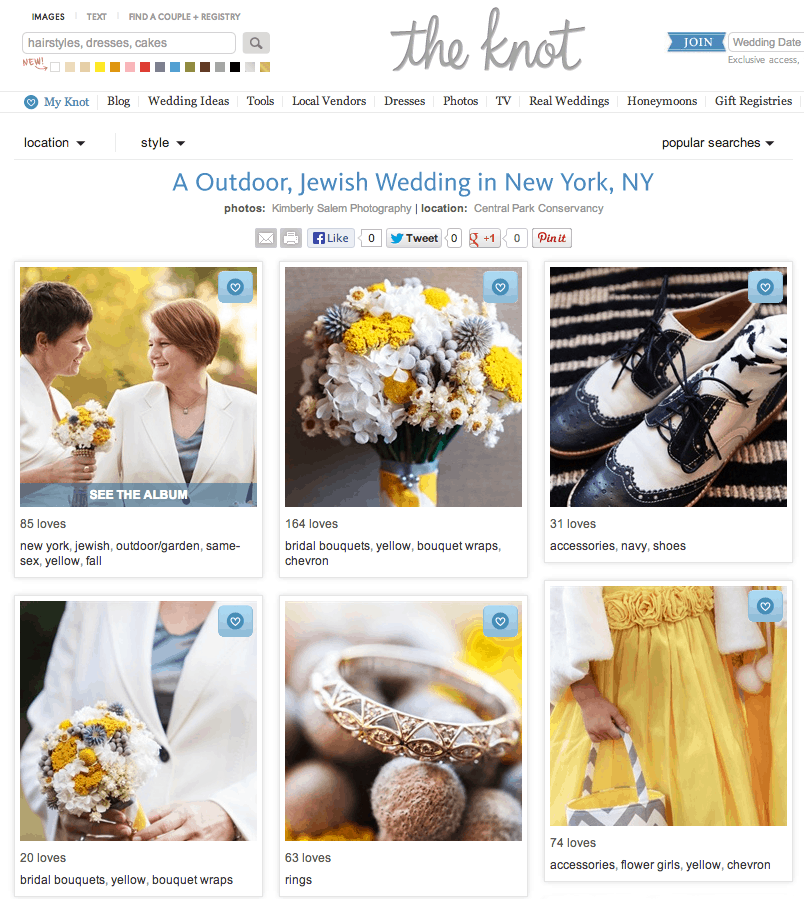 Pam and Jen Wedding - The Knot online Real Wedding