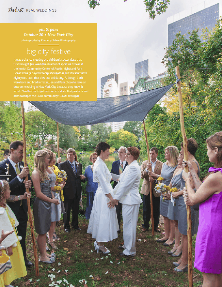 Pam and Jen Wedding - The Knot feature page 1