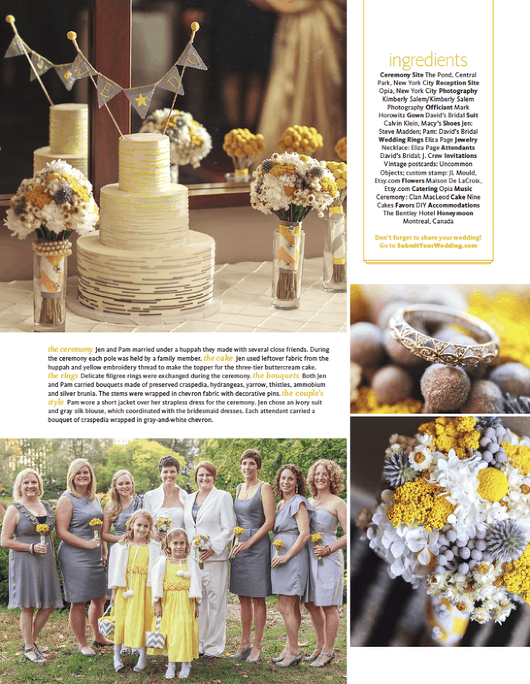 Pam and Jen Wedding - The Knot feature page 2