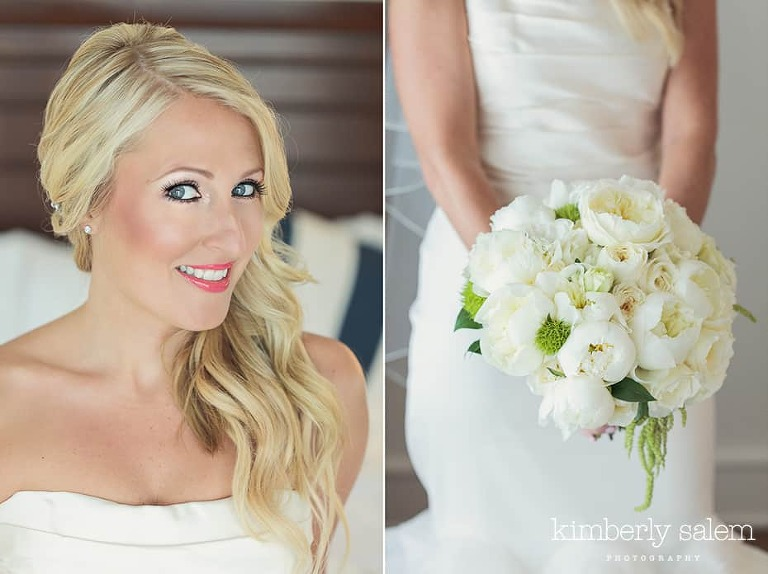 bride diptych with bouquet