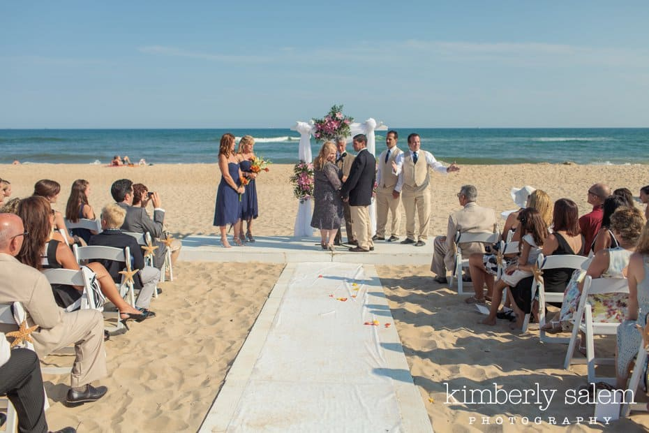beach wedding ceremony at Montauk