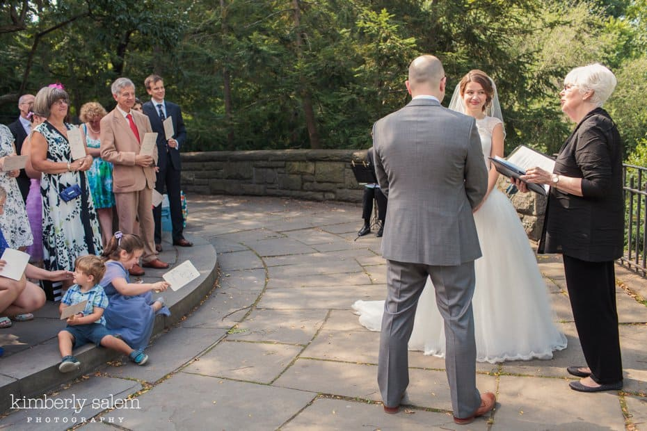Wedding ceremony in the Shakespeare Garden in Central Park
