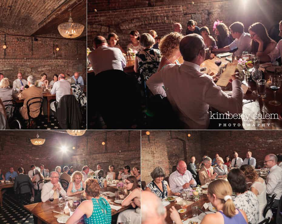 Candid shots of the reception dinner at Reynard in the Wythe Hotel