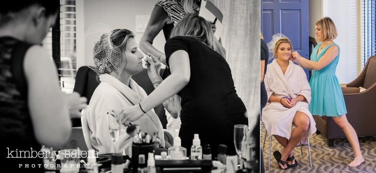 bride getting ready - makeup and hair