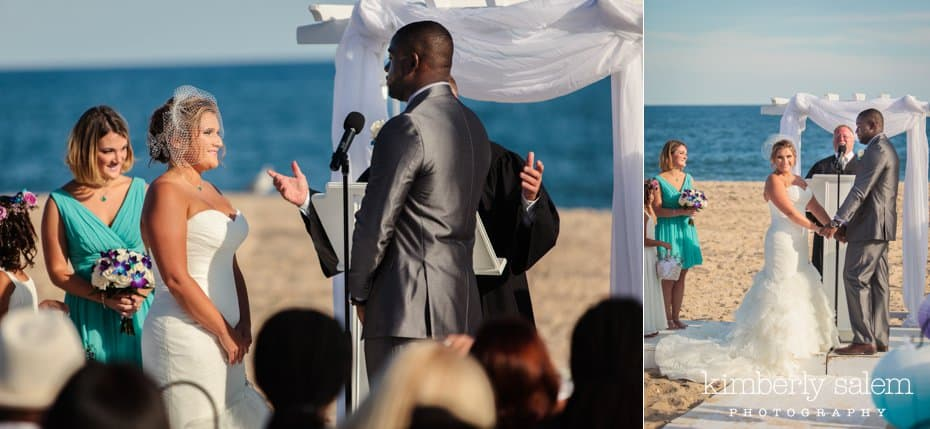 beach ceremony at Gurney