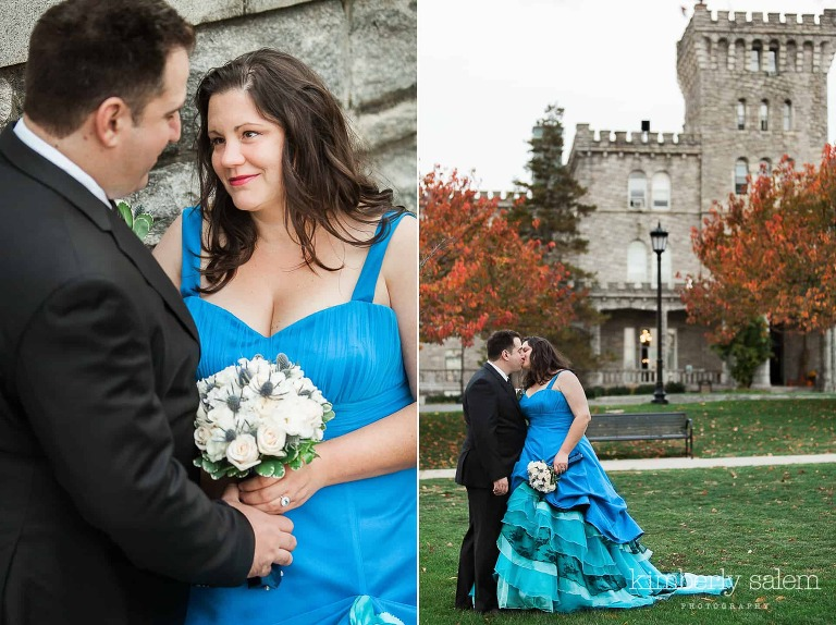 diptych ann and kevin wedding portraits at reid castle